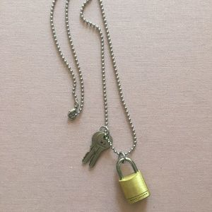 Marc Jacobs Mini Lock and Key Necklace